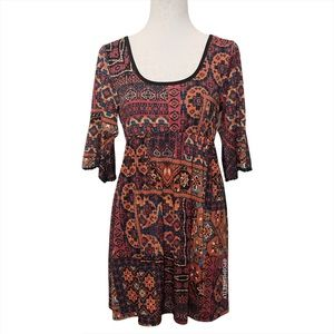 Scully Printed Bell Sleeve Dress